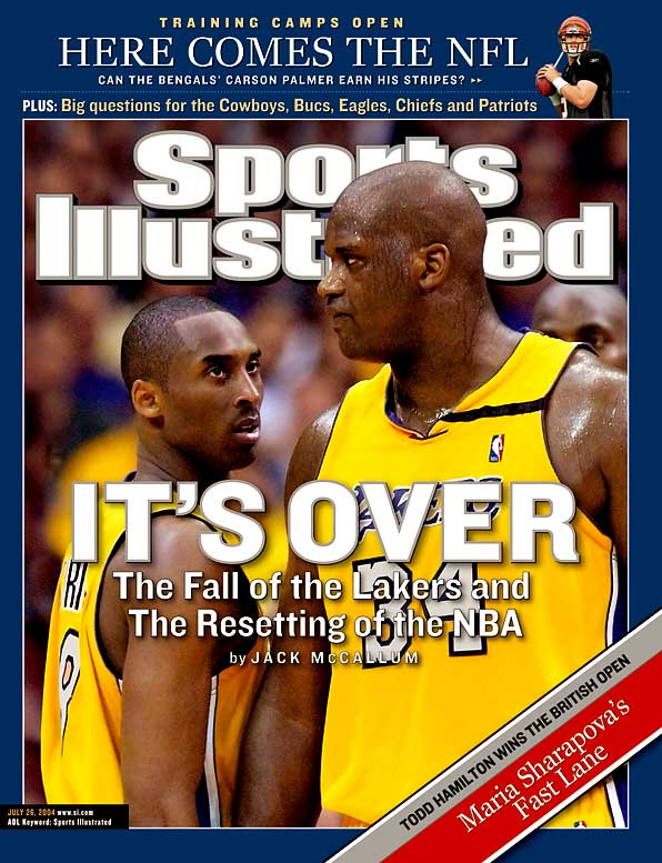 A six-game loss to the Pistons spelled the end of the Shaq-Kobe era in Los Angeles. O'Neal was traded after the season and Phil Jackson departed as coach (only to return a year later). Minus Shaq, Kobe would miss the playoffs in 2005 and lose in the first round in '06 and '07.