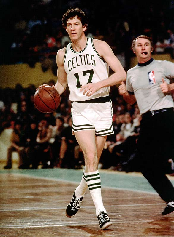 Manu Ginobili is his era's version of Hondo -- a versatile, high-energy swingman so selfless that he doesn't care whether he starts or comes off the bench. Havlicek retired in 1978 with eight championships and he remains the leading scorer in Celtics history.