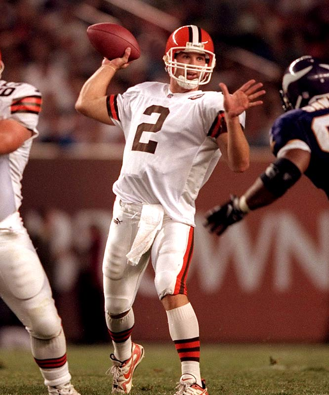 Couch took over as the team's starting quarterback in the second game of his rookie season and went 2-12. Things didn't get much better; he went 22-37 as a starter and was out of football by 2004.