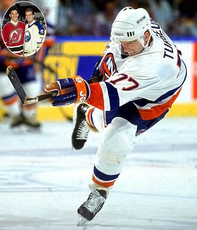 The classy, gifted pivot spent 19 seasons with six teams, playing in four All-Star Games, winning the 1993 Lady Byng Trophy for gentlemanly play, and occasionally having big offensive seasons, such as his 132-point campaign in 1992-93 for the Islanders, to whom he was traded for future Hall of Famer Pat LaFontaine.No. 2: Brendan Shanahan, LW, DevilsNotables: Joe Sakic, C, Nordiques (15)
