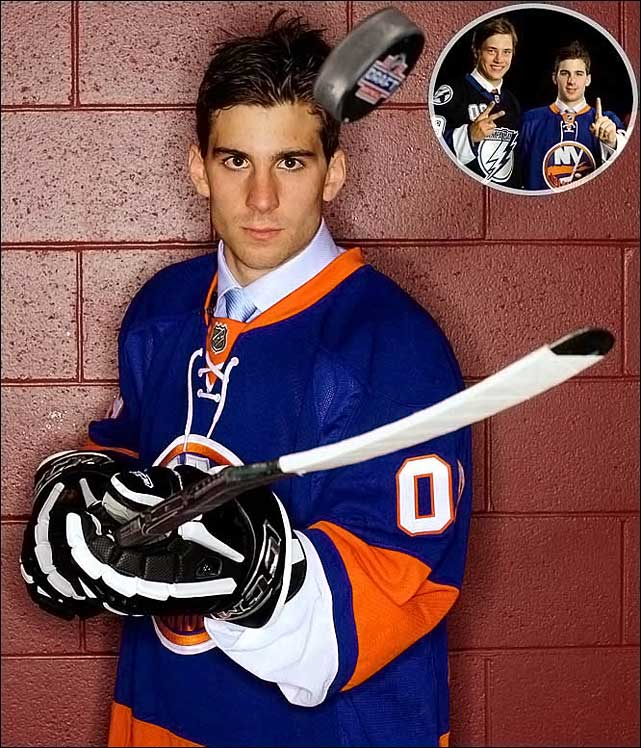 The New York Islanders kept everyone guessing, including Tavares himself, right up until they made him the No. 1 pick. Tavares, 18, led the Ontario Hockey League with 58 goals his final season before the draft and broke Peter Lee's 33-year-old league record of 213 career goals.  Tavares scored 24 goals (11 on the power play) and 54 points in his rookie season with Isles. No. 2: Victor Hedman, D, Lightning