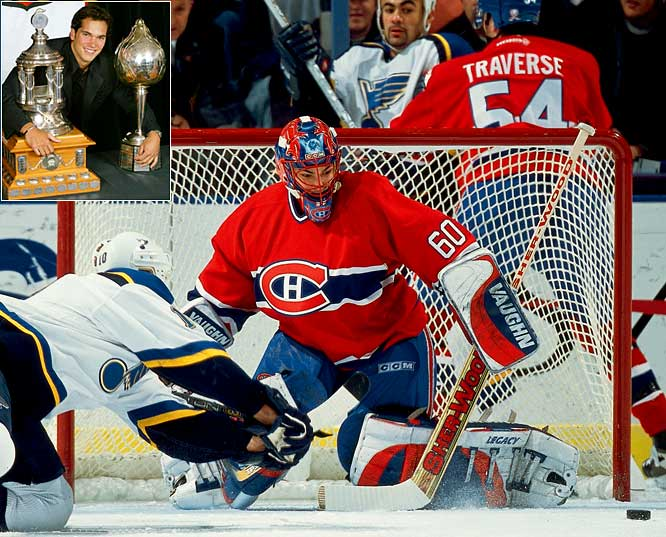 An anomaly among Hart winners, the Montreal goaltender beat out Calgary's Jarome Iginla in 2002 while winning the Vezina with a record of 30-24-10, seven shutouts, a 2.11 goals-against average and a .931 save percentage. Theodore has since struggled to approach that level of excellence with the Colorado Avalanche and Washington Capitals.