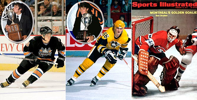 Among the most famous Calder-winners are Alex Ovechkin, who beat out Sidney Crosby in 2006, and Mario Lemieux (1985) who went on to win three Harts, four Pearsons, six Ross, two Smythes and the 1993 Masterton Trophy for perseverance and dedication to hockey. Dryden, Montreal's Hall of Fame netminder, holds the distinction of winning the Calder the year (1972) after he won both the Stanley Cup and the Smythe as a late-season call-up. Dryden also won five Vezinas during his career.