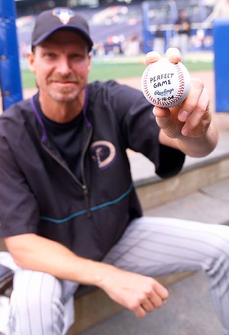 By 2004, most experts thought Johnson was on the decline, but he proved his critics wrong in May when he became the oldest pitcher (40 years) to throw a perfect game. The 2-0 victory over the Braves also made him the fifth pitcher in MLB history (after Cy Young, Jim Bunning, Nolan Ryan and Hideo Nomo) to pitch a no-hitter in both leagues.