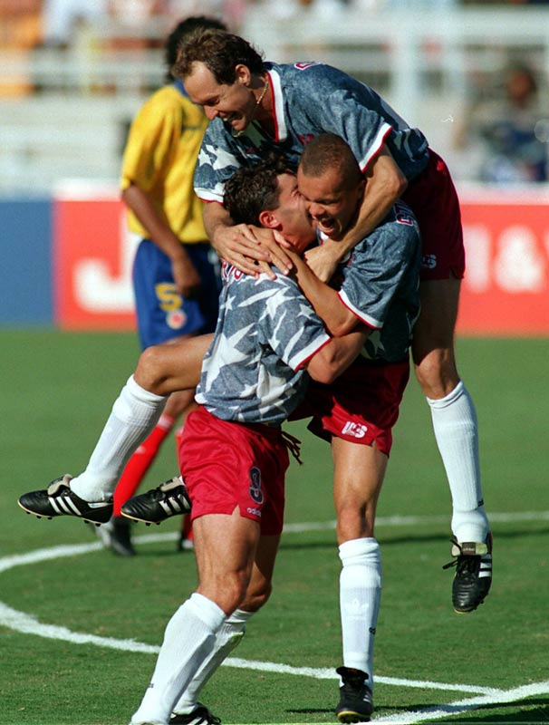 Colombia entered USA '94 as a trendy sleeper pick to bring home the title. But the host country tamed the tourney's dark horse with an improbable 2-1 victory at the Rose Bowl. The match is perhaps best remembered for the 34th-minute own goal by Andrés Escobar, who was shot to death in Colombia just 10 days after the match.