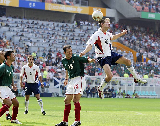 When the U.S. backed into the knockout stage at South Korea/Japan '02, it secured a date with its archrivals. The Americans got goals from Brian McBride (20) and Landon Donovan -- and survived a series of hostile fouls down the stretch -- to secure the 2-0 result and advance into the quarters.
