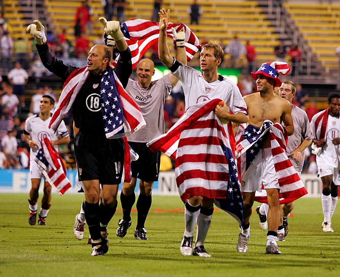 The U.S. booked a place at Germany '06 with a satisfying 2-0 victory in Columbus, Ohio, over its biggest rival. Goals from Steve Ralston and DaMarcus Beasley helped the Americans avenge a previous defeat in Mexico City -- the lone blemish of their qualifying campaign.