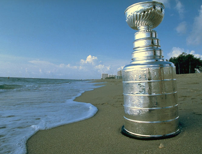 Lord Stanley enjoys some alone time on the beach in Miami.