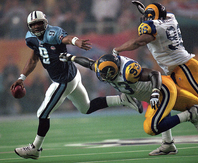 McNair, a four-time Pro Bowler, led the Titans within a yard of forcing overtime in the 2000 Super Bowl, which they lost 23-16 to the St. Louis Rams.