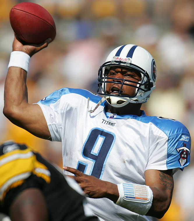 McNair starred for the Titans from 1997 to 2005 and became one of the NFL's premier quarterbacks.