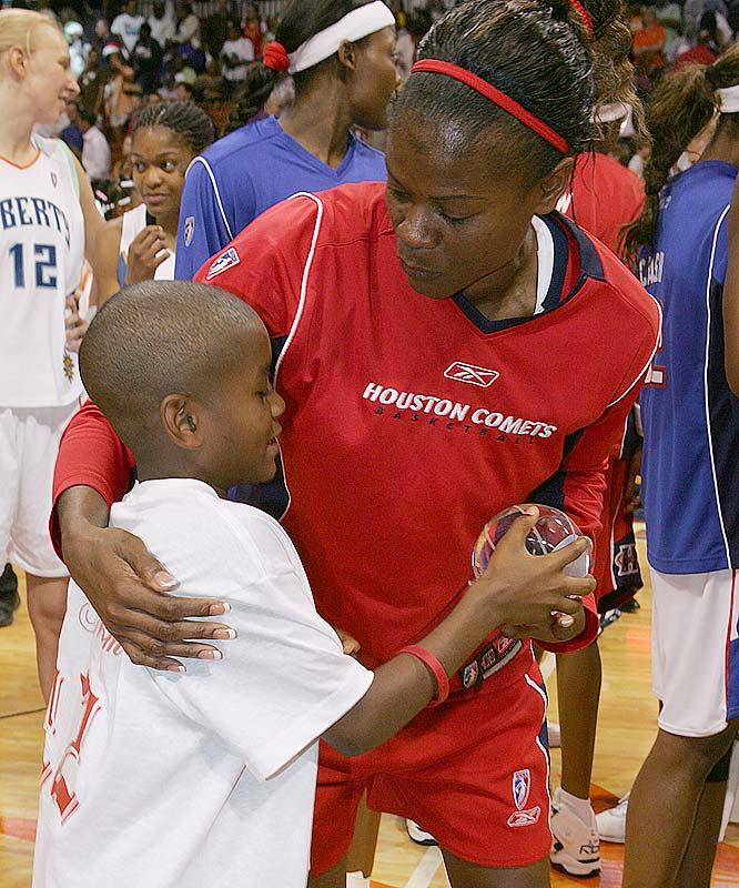 Former WNBA superstar Sheryl Swoopes has an 11-year-old son, Jordan.