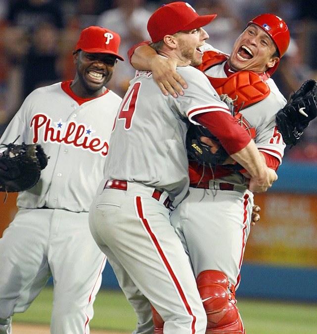 Roy Halladay produced his signature performance as a Phillie, striking out 11 Marlins and notching the 20th perfect game in MLB history. Florida catcher Ronny Paulino made the 27th and final out, grounding to third base, clinching one of the most historic achievements in Philadelphia sports history.