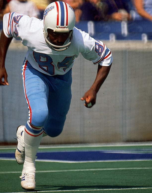 Before training camp in high school one summer, Johnson painted his black shoes white as a way to stand out. When his straight-laced coach called him over to ask why, the speedy Johnson responded that they made him run faster and was therefore allowed to keep them. The shoes became the speedy 5-foot-9 return man's trademark, along with his knack for the end zone (five punt and two kick return TDs from 1974-76) and the creative touchdown dances he gained notoriety for as a member of the Houston Oilers in the mid 1970s.