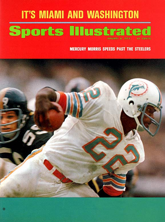 "A local writer dubbed Eugene Morris ""Mercury"" -- the Greek messenger God with winged feet -- after watching him outrun the opposition for West Texas State (he gained a then NCAA record 3,388 career yards). The fleet footed Morris carried the nickname to the NFL where he played running back but excelled as a return man for the Dolphins. Mercury collected two Super Bowls rings in Miami, one being the capstone of the Dolphins' historic 17-0 season."