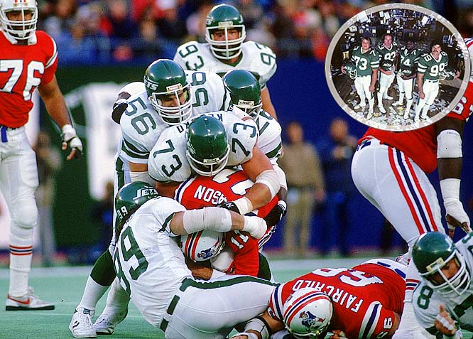 Once the chief NFL defensive lines of the early '80s, the Jets' Sack Exchange led the league with 66 sacks in 1981. The defensive front four of Mark Gastineau, Joe Klecko, Marty Lyons and Abdul Salaam took New York to the AFC Championship against the Miami Dolphins in 1982, but failed to secure a win.