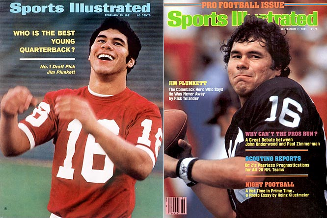 He is the only retired NFL player to start and win two Super Bowls who has not been inducted into the Hall of Fame. Plunkett, who grew up on welfare, also is one of only four Heisman Trophy winners to also be named MVP of the Super Bowl (Roger Staubach, Marcus Allen, Desmond Howard).