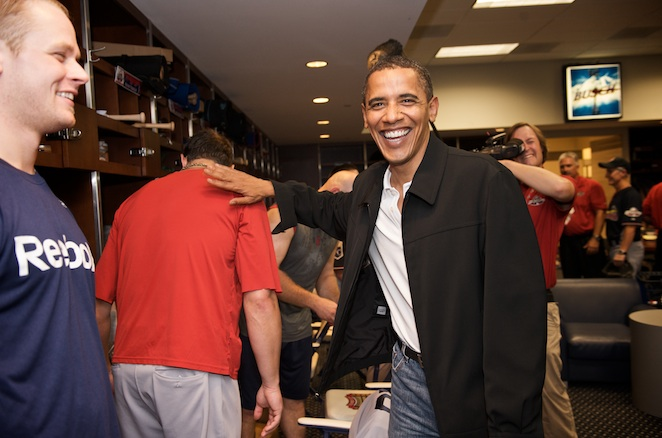 Twins first baseman Justin Morneau is not sure how to follow up Josh Beckett's greeting with President Obama.