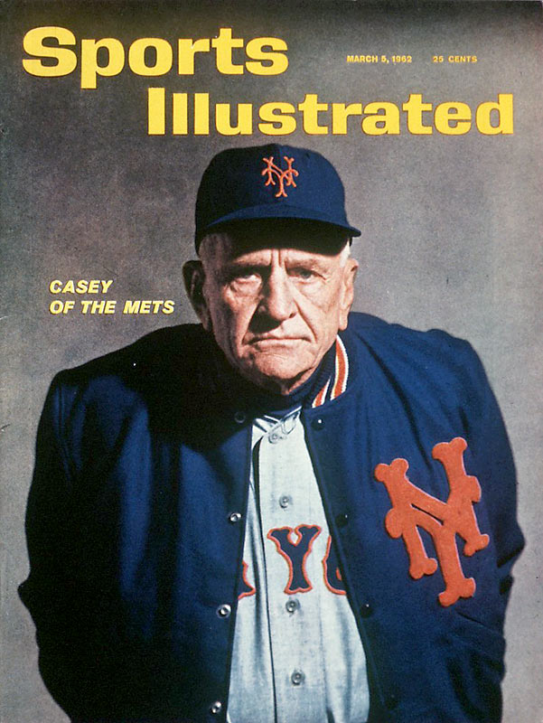 Casey Stengel strikes a grumpy pose for this SI cover.  Despite the Mets' lack of success during Stengel's four years at the helm (1962-65), he remains one of the franchise's most popular managers.
