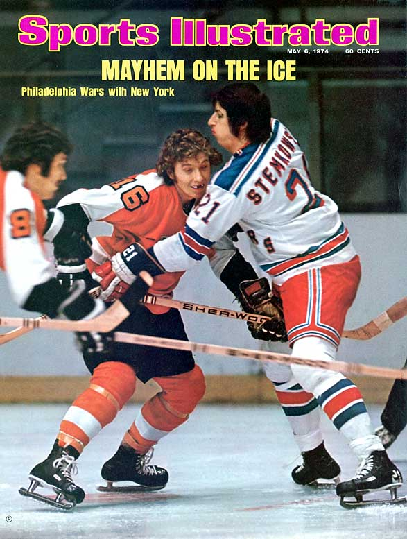 Flyers Hall of Famer Bobby Clarke (pictured here against the Rangers in 1974) is the patron saint of toothless NHL players.