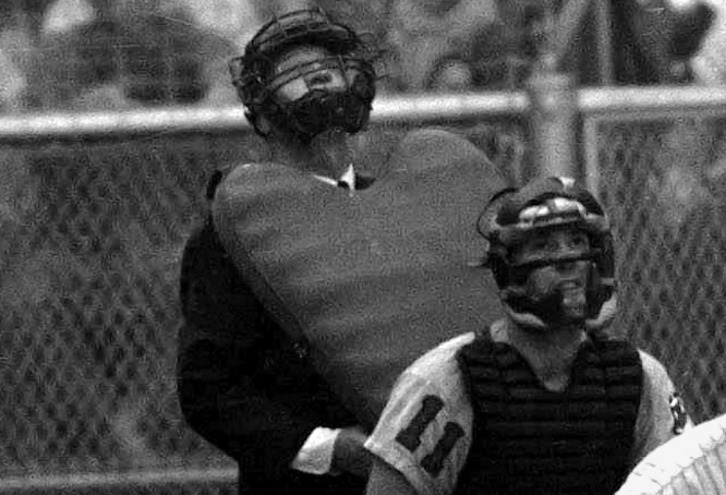 For years, American League umpires used the balloon-style chest protectors before Major League Baseball mandated in the late 1970s that all new hires use the inside protector. Send comments to siwriters@simail.com
