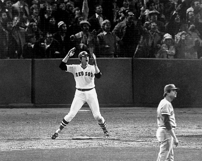 "All you have to do is mention ""Game 6"" in Boston. Nothing else is necessary. It is one of the most enduring images in American sports history, Carlton Fisk imploring the ball to stay fair. It did. The Red Sox forced Game 7, which they lost. But after 12-innings, Fisk gave baseball a picture that will last forever."