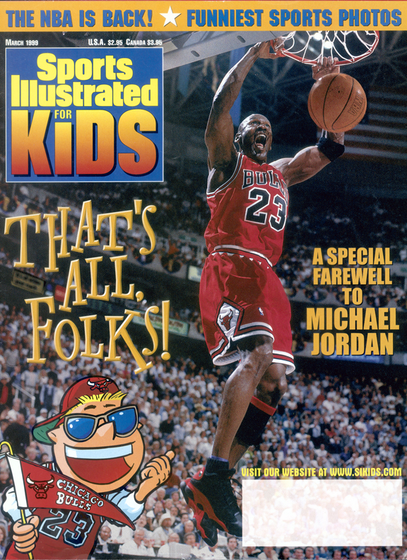 Buzz Beamer shared the March 1999 cover with MJ, who had announced his second retirement that January (the NBA season started late because of a lockout). It was the last time he appeared on the cover in a Bulls uniform, but Jordan wasn't done in the NBA just yet.