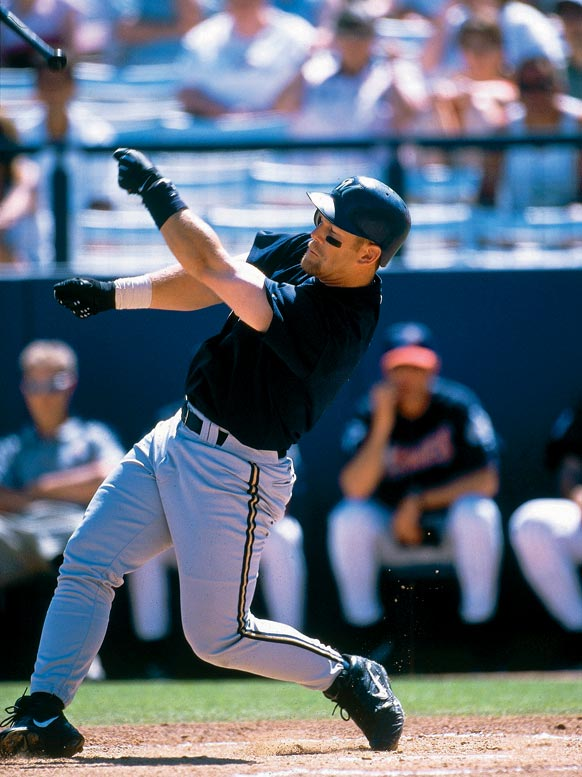 It's easy to see why last season's return to the playoffs after a quarter century was so joyously received in Milwaukee. During that long wait, Brewers fans were subjected to 12 consecutive losing seasons, a skid snapped only by an 81-81 mark in 2005. Pictured is Geoff Jenkins (1998-07 Brewers).