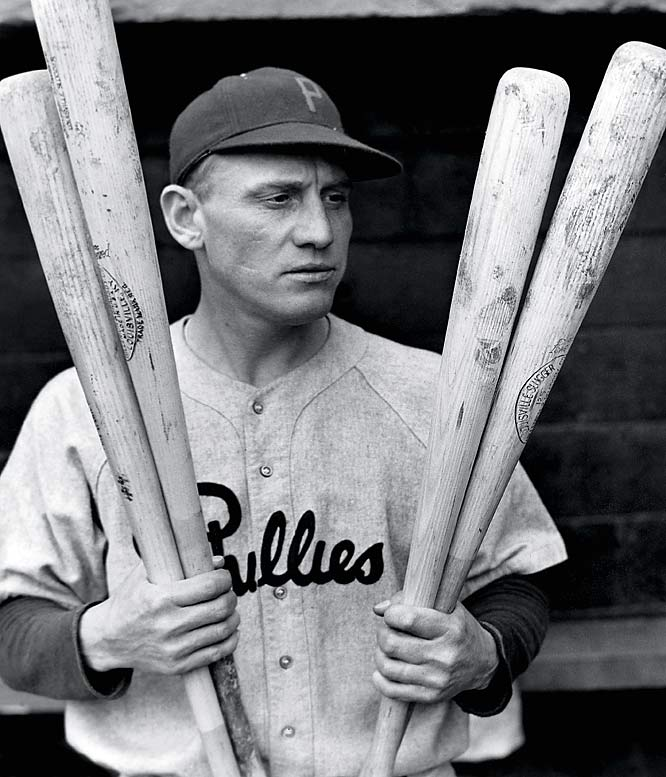 The Pirates may have taken them off the hook at 16, but if not for a 78-76 campaign in 1932, the Phillies would have subjected their faithful to a mindboggling run of 31 straight losing seasons that dated back to 1918. Pictured is Chuck Klein (1933, 36-44 Phillies).
