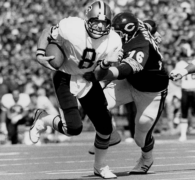 Known as the Aints and forever associated with paper-bag-wearing fans, New Orleans' sadsack franchise put together a streak of 12 losing seasons that would have hit 20 had Archie Manning not led them past the L.A. Rams on the final day of 1979 season. After that .500 campaign, the Saints did not have winning season or make a playoff appearance until 1987.