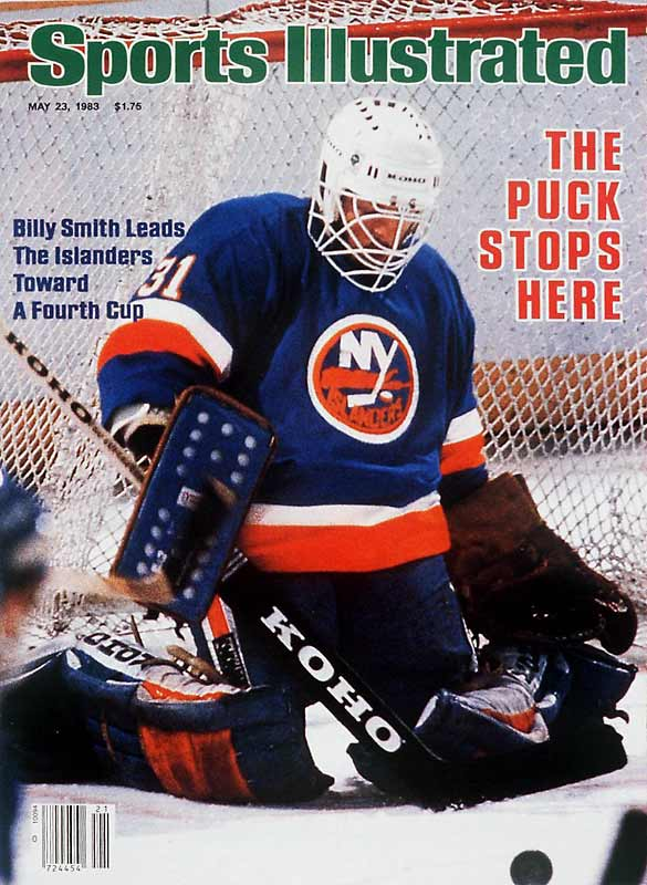 """The was no more ornery or competitive netminder than the bulwark of the Islanders dynasty. Known to use his stick to hack the skates out from any opponent who dared venture near his crease, Smith was labeled """"Public Enemy No. 1"""" by newspapers in Edmonton after he took down Wayne Gretzky in the 1983 Stanley Cup Final."""