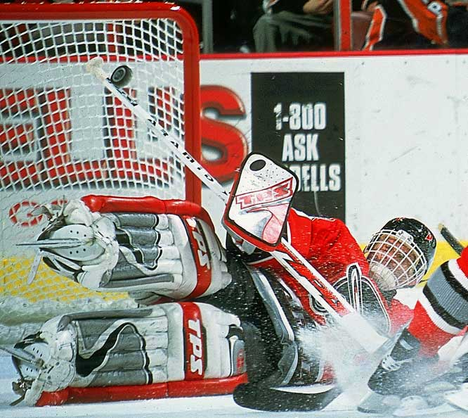 A rubber-limbed acrobat with an unorthodox flopping, flailing style, Hasek dominated the NHL for most of his 15 seasons, winning six Vezina trophies between 1994 and 2001. The first of his two successive Harts, in 1997, made him the first goalie in 35 years to be named the NHL's MVP.