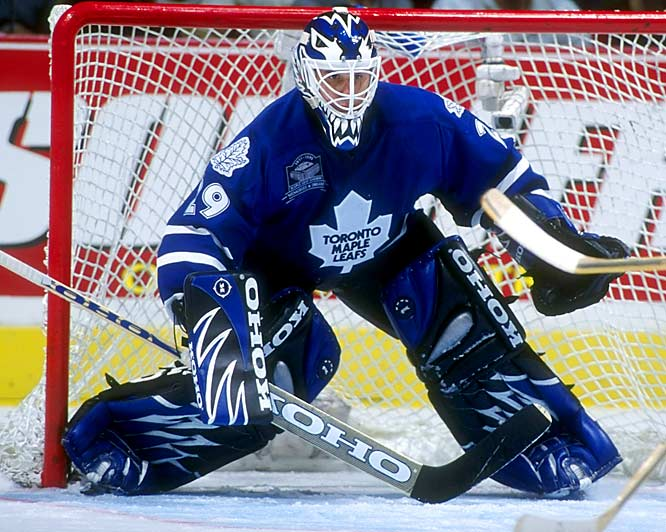 """""""The Cat"""" was an apt nickname for a goaltender who relied on his reflexes, and Potvin's first name naturally brought to mind the famous cartoon cat. In 1996-97 with the Maple Leafs, the Cat's reflexes were especially sharp as he set an NHL single-season record of 2,214 saves that stood until 2004."""