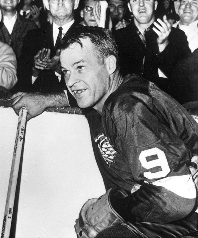 """When you play for three decades, until the age of 51, and become the NHL's all-time scorer (since topped by Wayne Gretzky) as well as a revered icon, it's not surprising that you come to personify your sport. And Howe was hockey: tough, fearless and skilled. The combination of a goal, an assist and a fight in one game is fittingly called """"a Gordie Howe hat trick."""""""