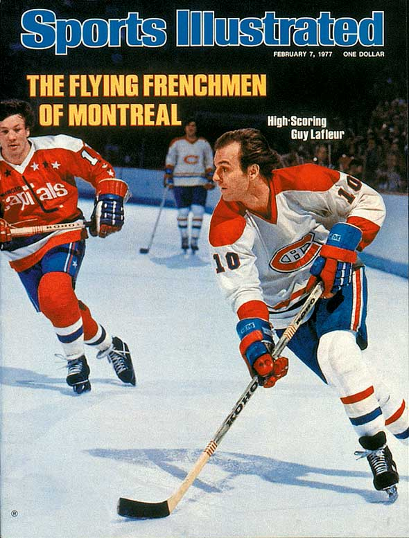 """The legendary Canadiens' winger was famous for his graceful style -- his hair flowing behind him as he skated -- and his nickname was a natural, as the French word """"fleur"""" means flower. LaFleur scored between 50 and 60 goals each season from 1974 to 1980, winning three scoring titles, two Hart (MVP) trophies and five Stanley Cups."""