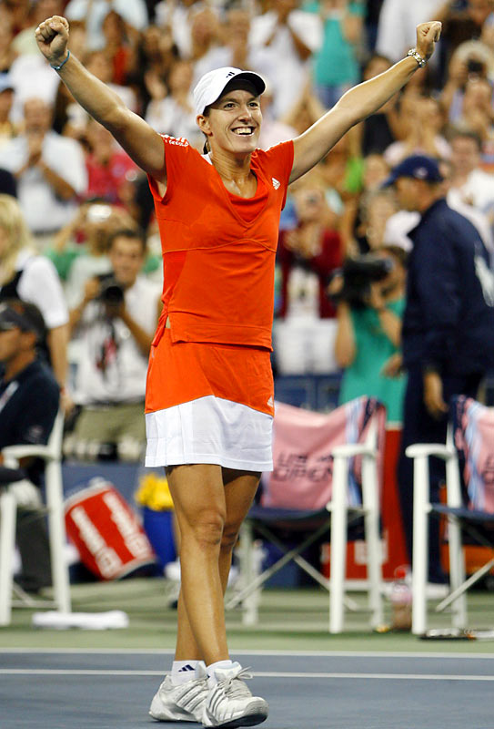 """Justine Henin announced her return to the WTA Tour on Sept. 22 after an 18-month retirement. Ranked No. 1 when she stepped away, Henin was considered """"the female Federer"""" by Martina Navratilova for her domination in spending 117 weeks at No. 1. Here is a look at the 27-year-old's career, which to date has included 41 tour victories, $19 million in prize money, seven Grand Slam titles -- and some controversy, too."""