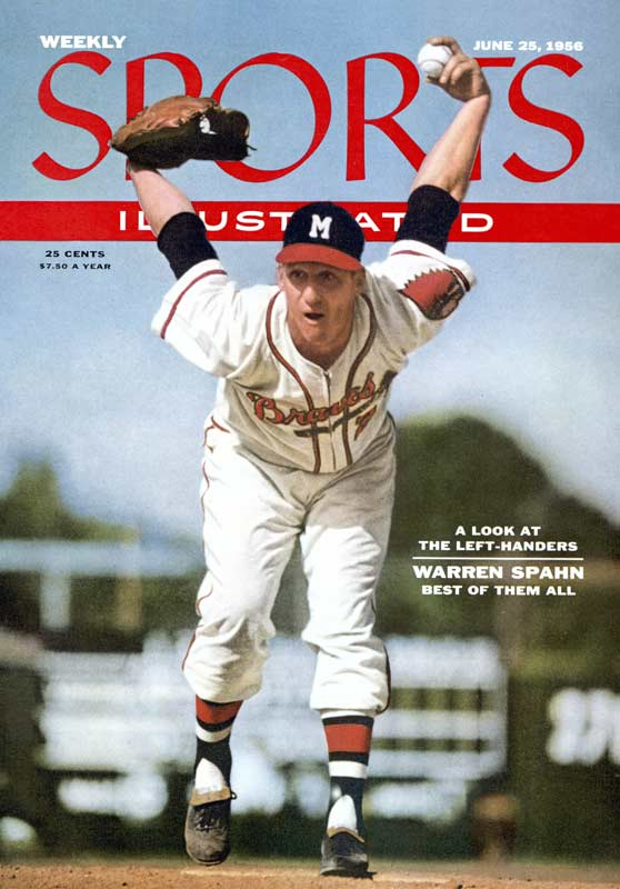 With an eight-inning 12-hit effort in the Braves' 8-6 victory over Pittsburgh, lefty Warren Spahn earns his 20th victory for the fourth consecutive season and for the tenth time in his career. The southpaw will compile 13 seasons with 20 or more wins