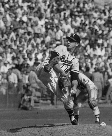 """Warren Spahn was such a control freak, in the best possible way. When we sat down before a game he would say, 'I'm gonna pitch this guy outside and I want everyone to play him the opposite way,' and that is exactly the way he would pitch him. And, you know, I believe if he wasn't pitching he probably could have been a fourth outfielder. He was a very good hitter, and a fierce competitor. He was good. He was about as good as anybody I've ever seen."""