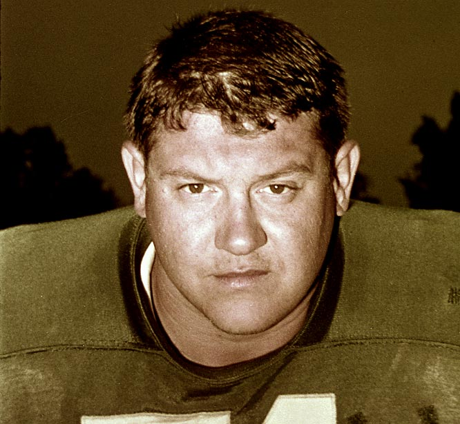 The tackle was the first strictly defensive player to crack the top three, losing out to Texas A&M's John David Crow. The Outland Trophy winner would go on to play for the Detroit Lions, wrestle and star in the 1980s sitcom Webster.
