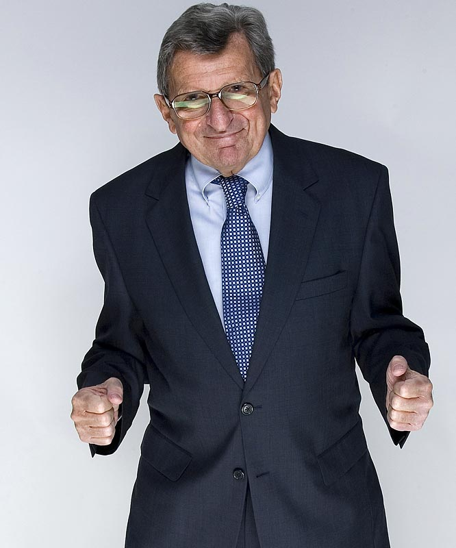 Paterno gets in a fighter's stance during a SI photo shoot last April.