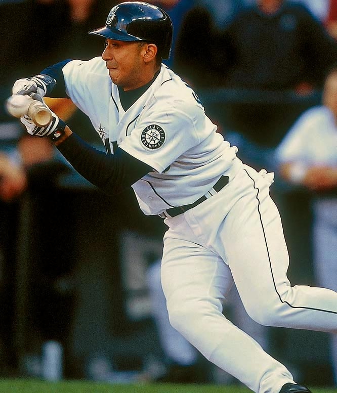 With one out in the bottom of the ninth inning, Carlos Guillen's safety squeeze scored Rickey Henderson and sent the Mariners to the ALCS.
