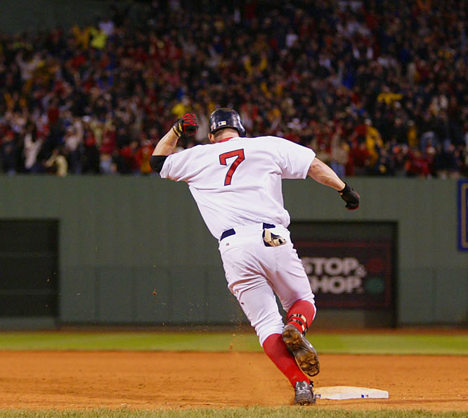 Pinch-hitter Trot Nixon hit a mammoth two-run homer off Rich Harden in the bottom of the 11th inning as Boston staved off elimination and went on to advance to the ALCS.