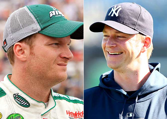 NASCAR star Earnhardt Jr. won the 2004 Daytona 500 and is currently the proud owner of 18 Sprint Cup and 22 Nationwide Series wins.Burnett, who joined the Yankees in 2009 after stints with the Marlins and Blue Jays, led the National League in shutouts (5) in 2002 and the American League in strikeouts (231) in 2008.