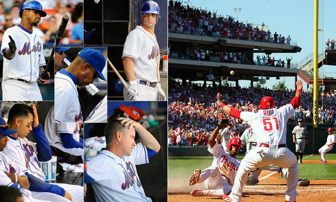 "In 2007, the Phillies came from behind to beat the Mets for the division title. The Phillies had a lot to live up to -- shortstop Jimmy Rollins declared in January that the Phillies were the ""team to beat in the NL East,"" despite the fact that the Mets finished 12 games ahead of the Phillies in 2006."