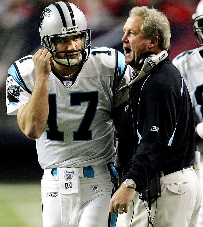 The Panthers won one game (period) in 2001.  In 2005, however, John Fox's strategy and Jake Delhomme's arm helped Carolina to its best away record of the decade, 6-2.