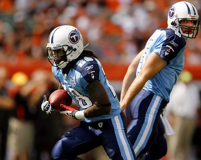 While Tennessee won't win it all this year, 2008 was an entirely different season.  The 13-3 Titans won their first six away games and finished first in the AFC South.