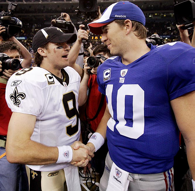 At around 6-feet, Brees isn't the tallest of quarterbacks, but he gets the job done better than few others, as Eli Manning could certainly attest to after Sunday's showdown.