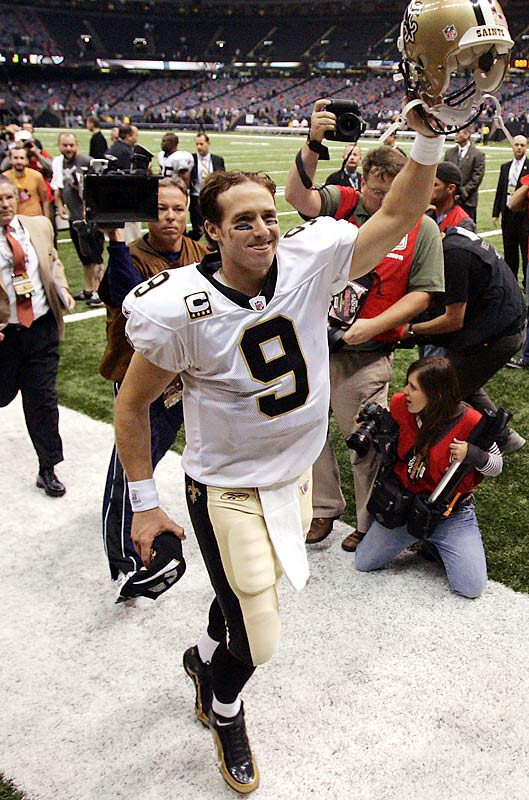 Brees would love to lead the Saints to the Super Bowl. He took them to the NFC Championship game in January 2007, where they lost to the Chicago Bears.