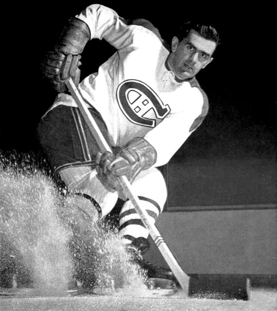 """Montreal's Maurice """"Rocket"""" Richard becomes the first NHL player to score 500 career goals."""