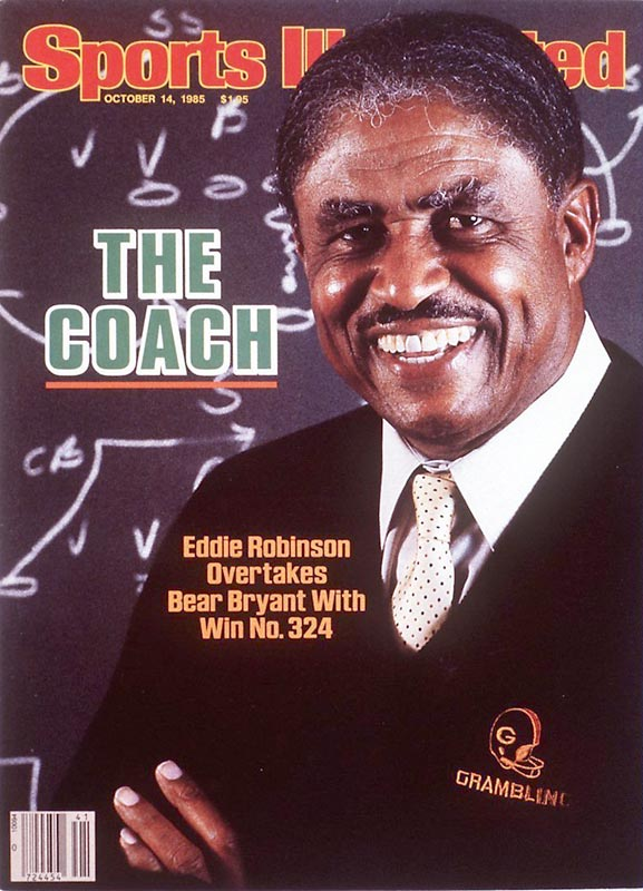 Grambling's Eddie Robinson wins his 324th football game, passing Bear Bryant for the all-time record.