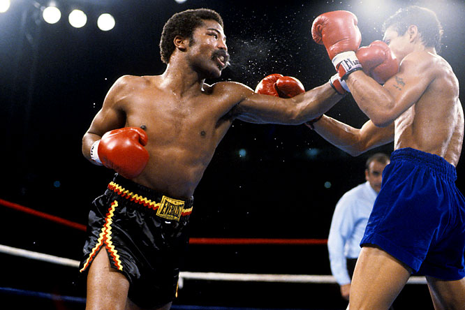 """A natural lightweight, """"The Hawk"""" had to move up to 140 before he could get a title shot. Still, he remains one of the division's most exciting fighters, a human buzzsaw, with knockout power in both hands and a granite jaw."""